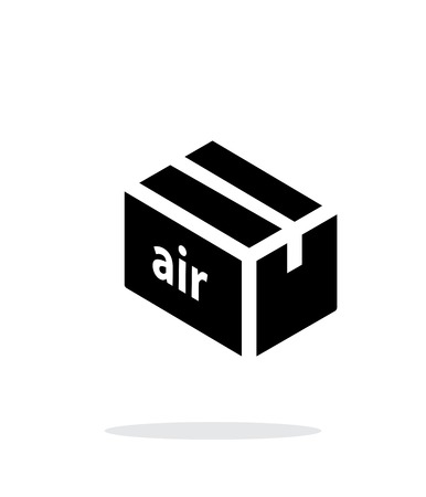 simple background: Air delivery simple icon on white background. Illustration