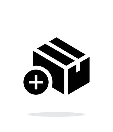 storage box: Add box simple icon on white background.