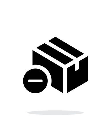 simple background: Remove box simple icon on white background. Illustration