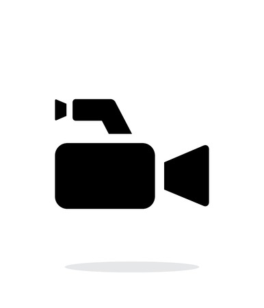 Journalistic camera simple icon on white background. Vector