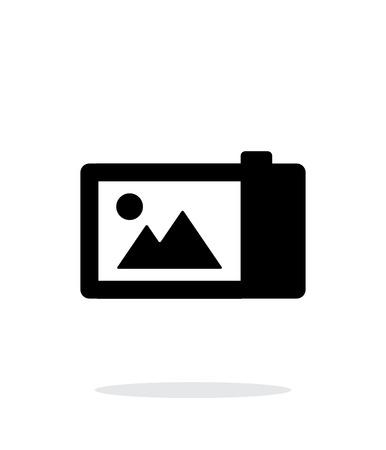 journalistic: Digital camera simple icon on white background. Illustration