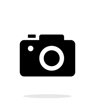 journalistic: SLR camera simple icon on white background.
