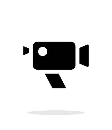 journalistic: Retro camera simple icon on white background.