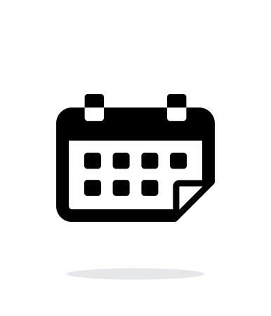 simple background: Calendar flipped simple icon on white background. Illustration