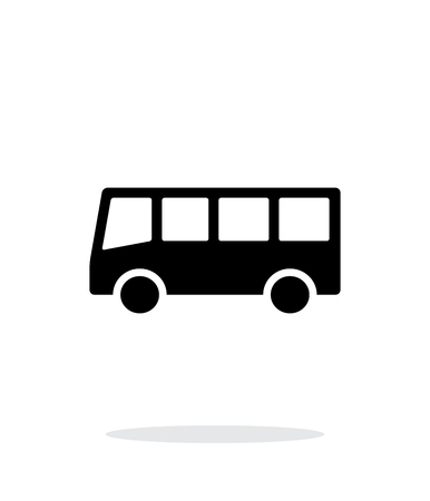 Bus simple icon on white background. Vector