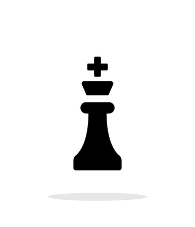 chess pieces: Chess King simple icon on white background.