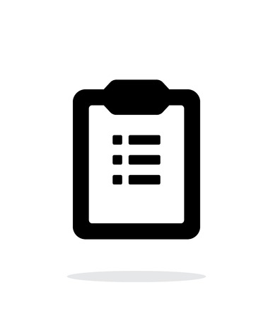 simple background: To-do list simple icon on white background.