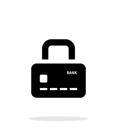 secure payment: Credit card abstract padlock icon on white background. Secure Payment. Vector illustration. Illustration