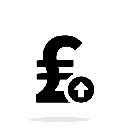 Pound sterling exchange rate up icon on white background. Vector