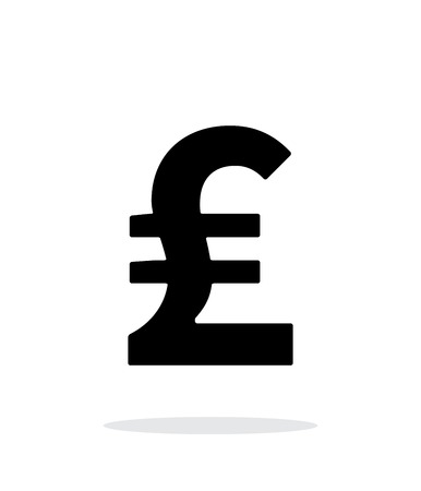 pound sterling: Pound sterling icon on white background.