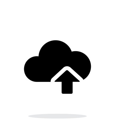 Cloud computing upload simple icon on white background.