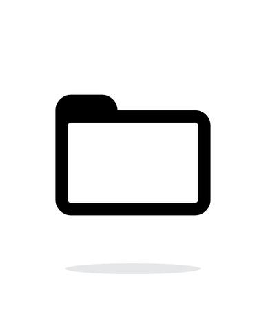 folder icon: Folder icon on white background. Illustration