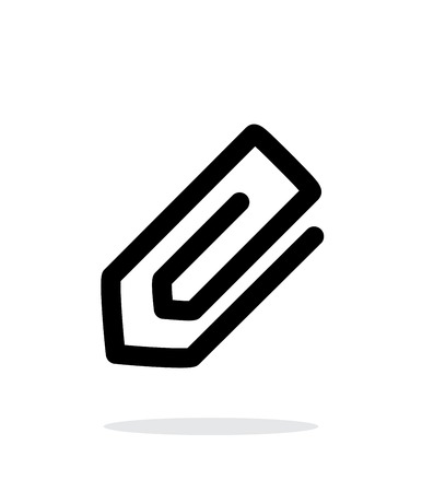 Paperclip icon on white background. Illustration