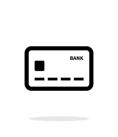 Debit card icon on white background. Vector