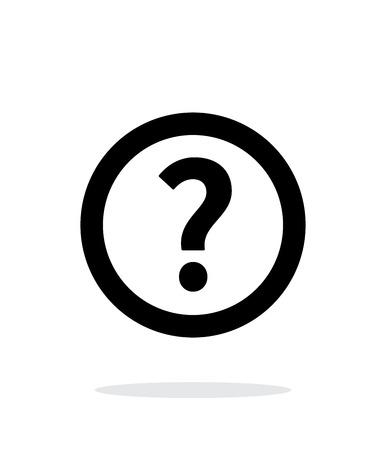 questions answers: Question icon on white background.