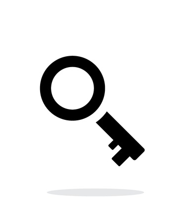 Key icon on white background. Illustration