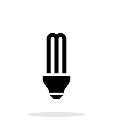 light bulb low: CFL light bulb icon on white background.