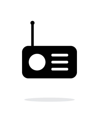 internet radio: Radio icon on white background. Illustration