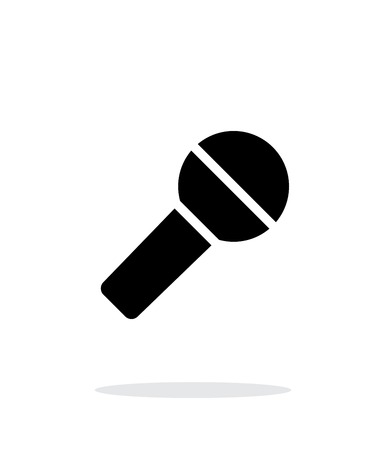 podcasting: Microphone icon on white background.
