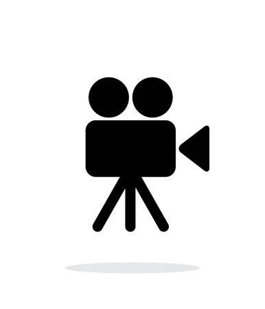 Camera icon on white background. Иллюстрация