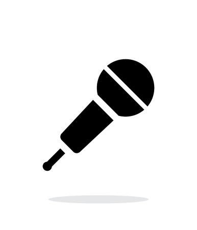 Wireless microphone icon on white background. Illustration