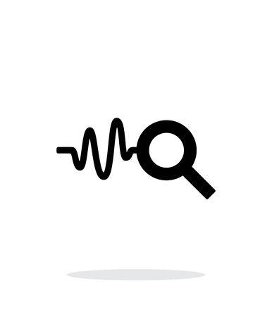 listening to heartbeat: Cardiogram monitoring icon on white background. Illustration