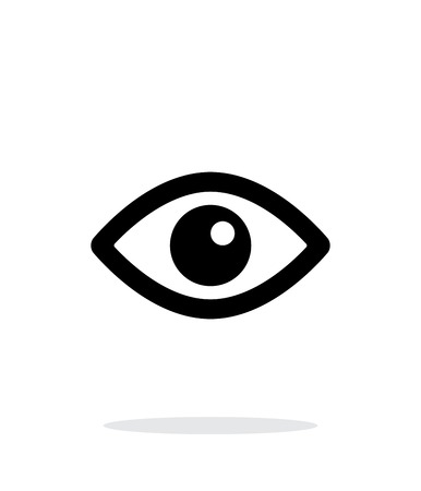 Eye icon on white background. Illustration