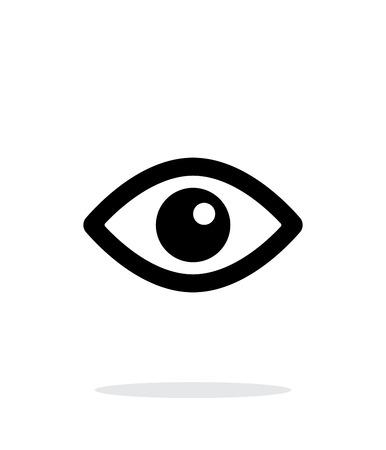 Eye icon on white background. Vettoriali
