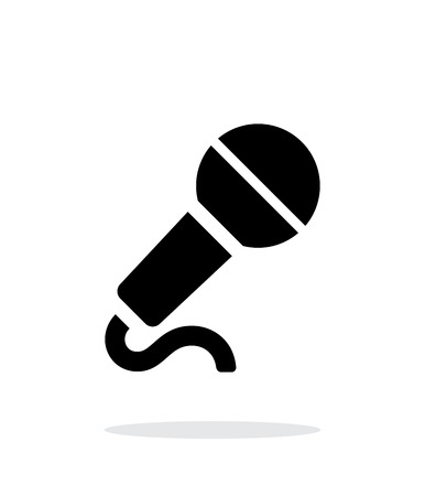 radio microphone: Microphone with cable icon on white background.