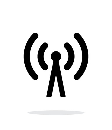 wireless tower: Cell phone tower icon on white background. Illustration
