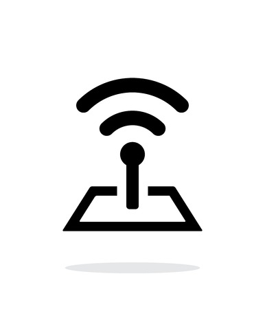 Radio tower base icon on white background.