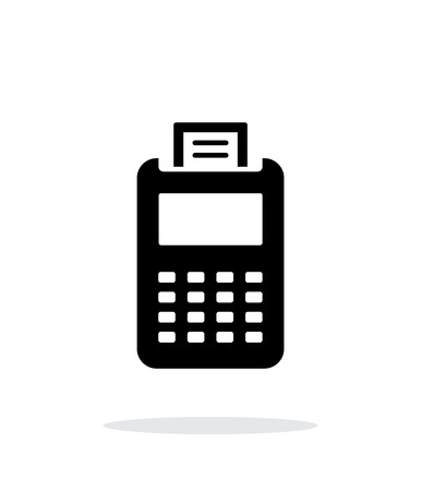 Billing machine icon on white background. Illustration