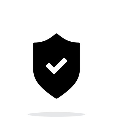 Accept shield icon on white background. Vector