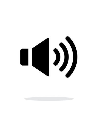 max: Volume max. Speaker icon on white background. Illustration
