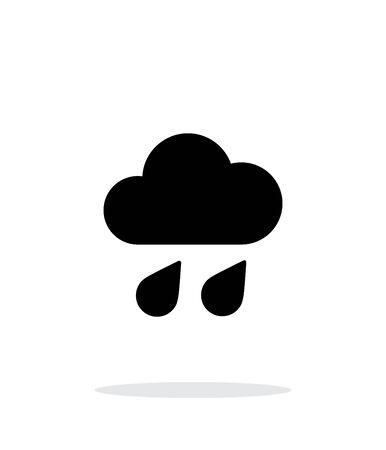 downpour: Downpour weather icon on white background. Illustration