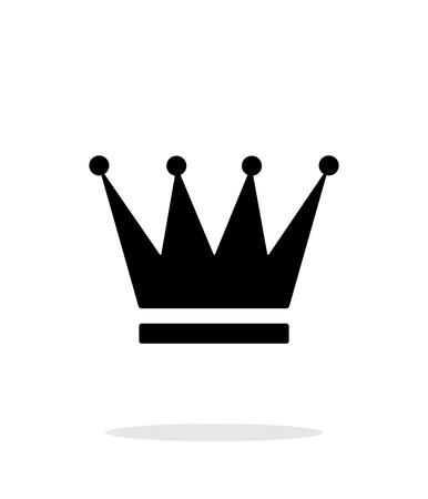 tsar: Crown icon on white background. Vector illustration.
