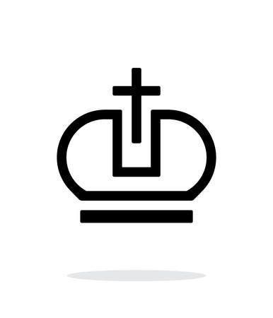 pope: Crown Pope icon on white background. Vector illustration. Illustration