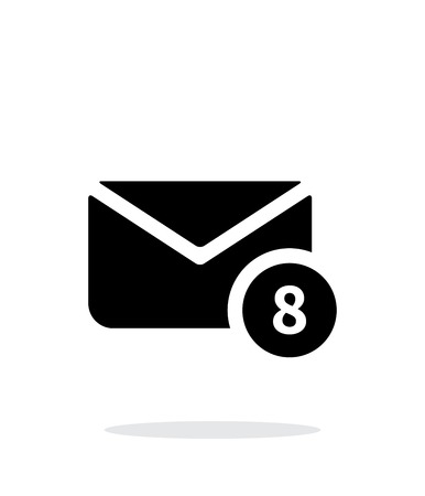 numbers icon: Mail with numbers icon on white background. Vector illustration.