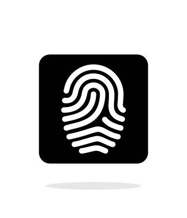 empreinte du pouce: Empreintes digitales et l'empreinte ic�ne sur fond blanc.