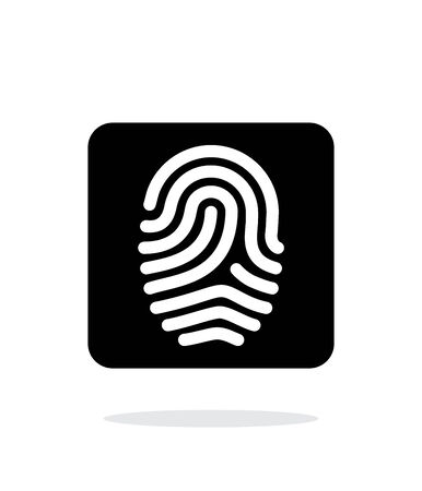 dentification: Fingerprint and thumbprint icon on white background.
