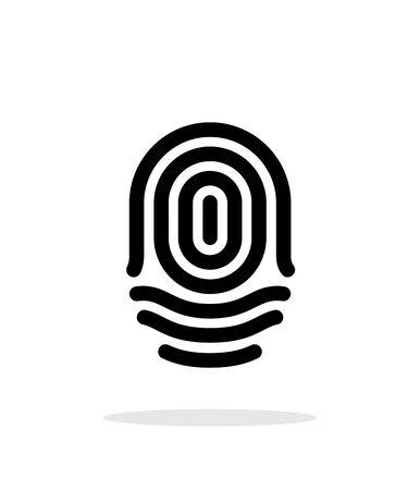 Fingerprint whorl type icon on white background.