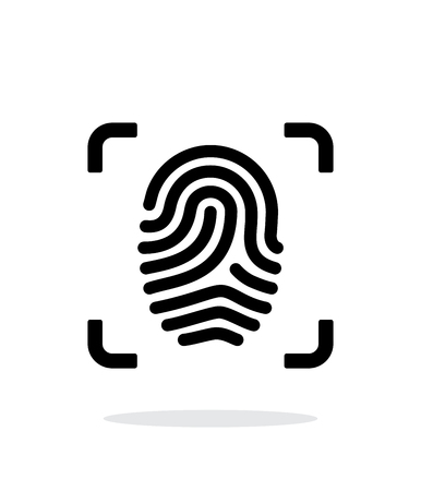 Scanning finger icon on white background. Vector