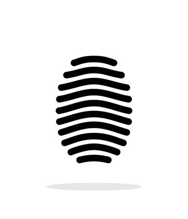 dentification: Fingerprint arch type icon on white background.