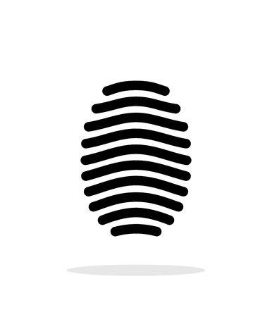 unlocked: Fingerprint arch type icon on white background.