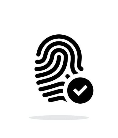 dentification: Fingerprint accepted icon on white background.