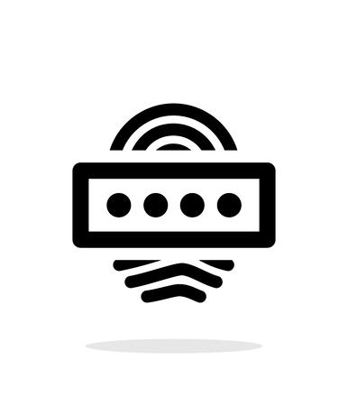 Fingerprint password icon on white background. Illustration