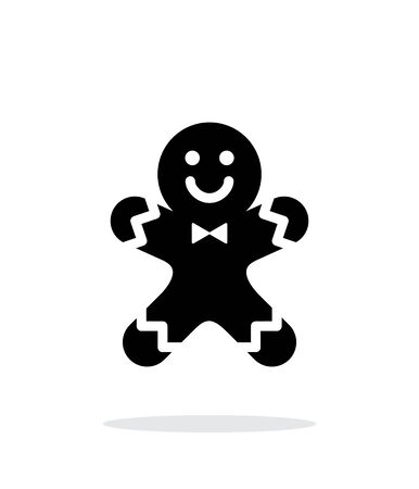 gingerbread man: Gingerbread man icon on white background.