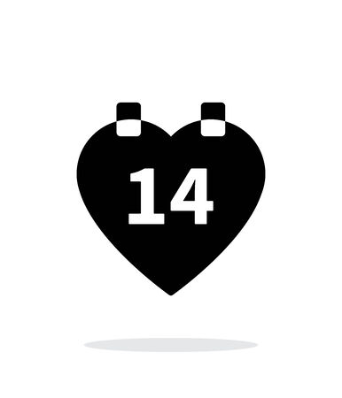 Valentines Day icon on white background. Vector