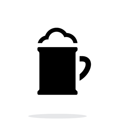 Beer mug with foam simple icon on white background. Vector