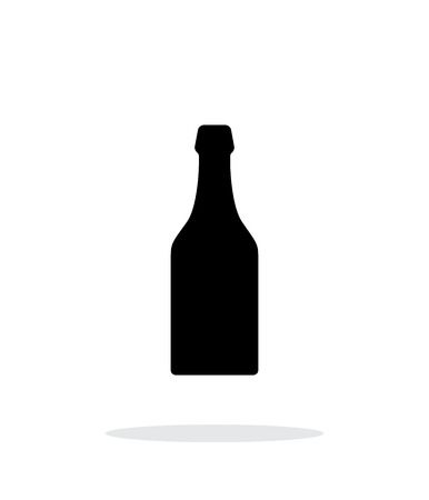 Beer bottle simple icon on white background. Vector